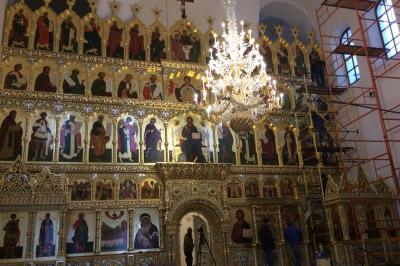 Иконостас храма Всех святых г. Гусева Калининградской области