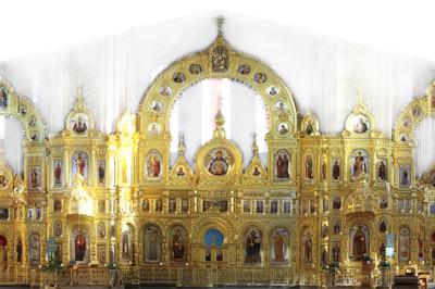Иконостас Иверского собора Николо-Перервинского монастыря г. Москва