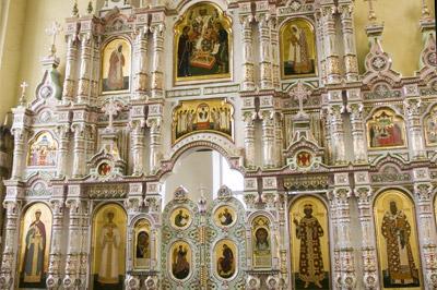 Иконостас Алексеевского придела Троицкого собора г. Щелково Московской области