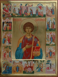 Икона Житие великомученика и целителя Пантелеимона