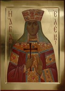 Равноапостольная царица Елена. Икона