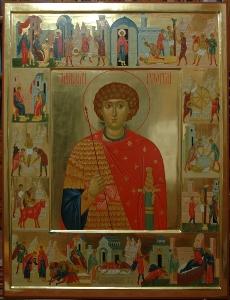 Икона Житие великомученика Георгия Победоносца