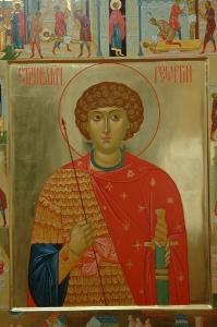 Житие великомученика Георгия Победоносца. Фрагмент иконы