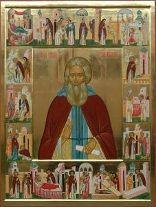 Икона Житие преподобного Сергия Радонежского