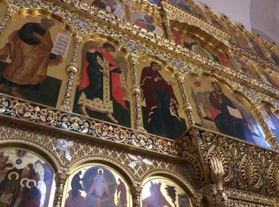 Иконостас храма Всех святых г. Гусева Калининградской области_41