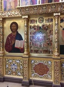 Иконостас храма Всех святых г. Гусева Калининградской области_42