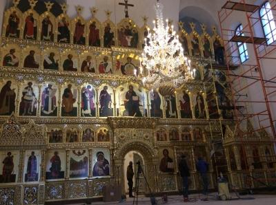 Иконостас храма Всех святых г. Гусева Калининградской области_9