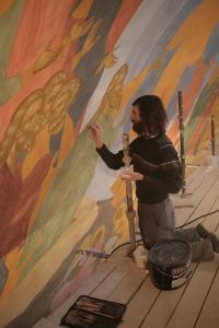 Роспись храма преподобного Андрея Рублева в Раменках г. Москва_11