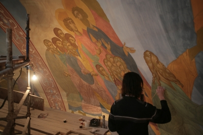 Роспись храма преподобного Андрея Рублева в Раменках г. Москва_15