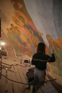 Роспись храма преподобного Андрея Рублева в Раменках г. Москва_16