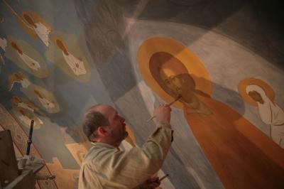 Роспись храма преподобного Андрея Рублева в Раменках г. Москва_21