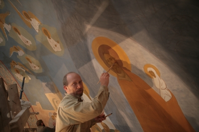 Роспись храма преподобного Андрея Рублева в Раменках г. Москва_22